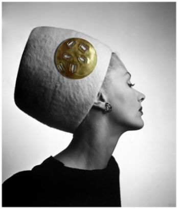 lisa-fonssagrives-in-haut-couture-carnegies-king-tut-hat-1945-louise-dahl-wolfe-archive copia