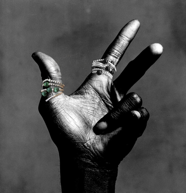 Irving Penn Miles Davis hand 3 black and white photograph, 1986_COVA RIOS